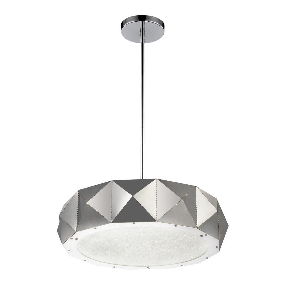Rigelle 10-light chrome chandelier