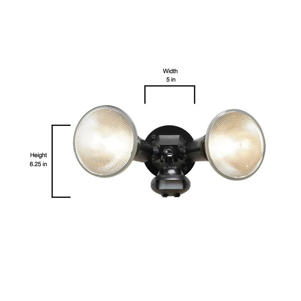 New Cooper Lighting MS34 110 Degree Motion Detector Floodlight Black
