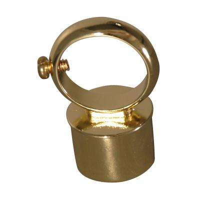 2 in. D-Rod Loop Connector in Polished Brass