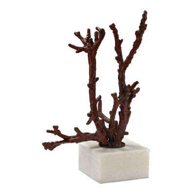 Staghorn 10 in. Coral Decorative Sculpture in Red