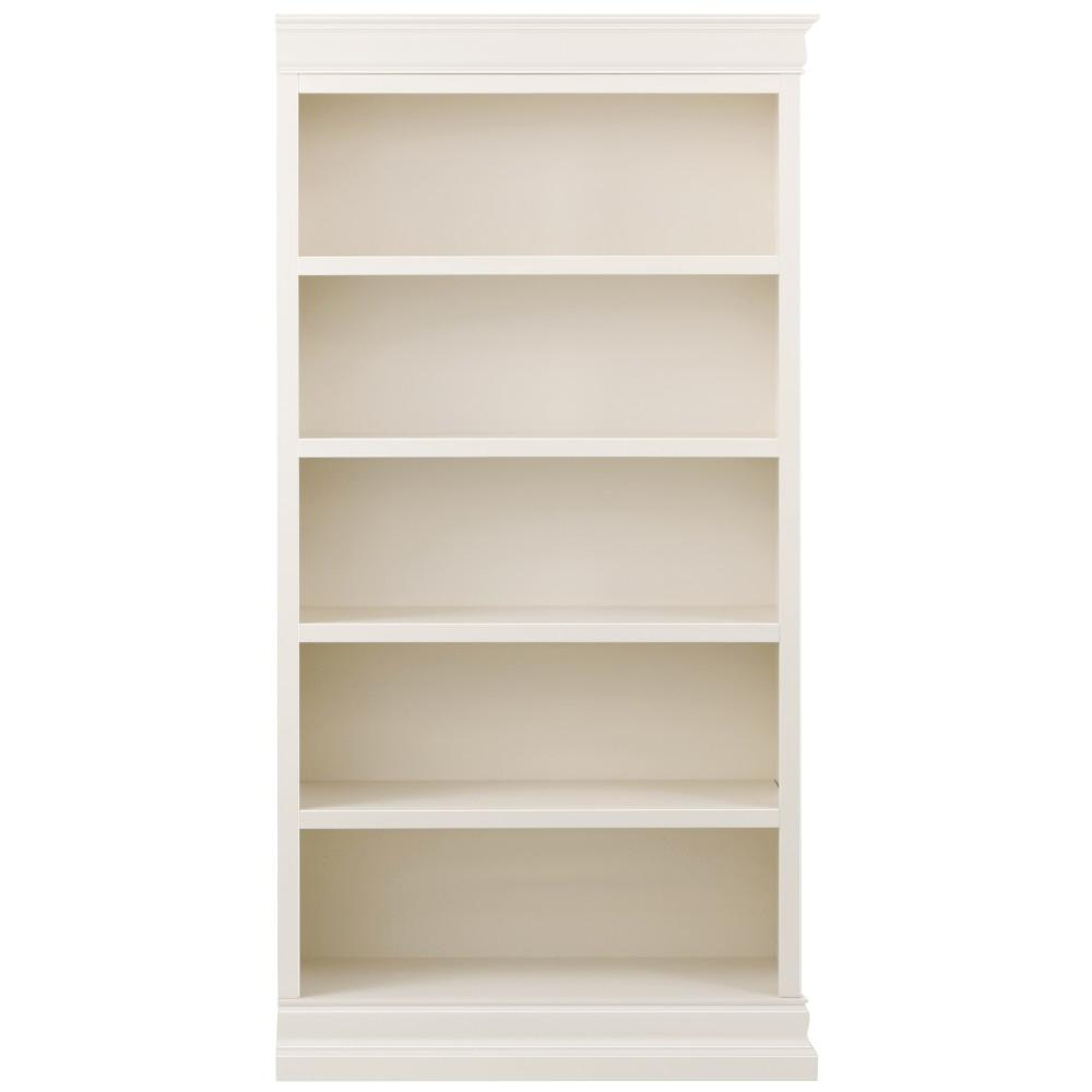 Home Decorators Collection Louis Philippe Modular Right Polar White Open Bookcase 9716200410