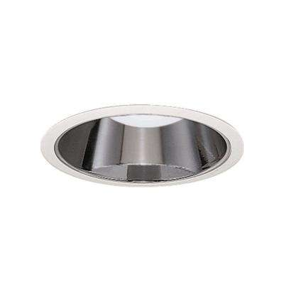 426 Series 6 in. White Recessed Ceiling Light with Specular Reflector Cone Trim