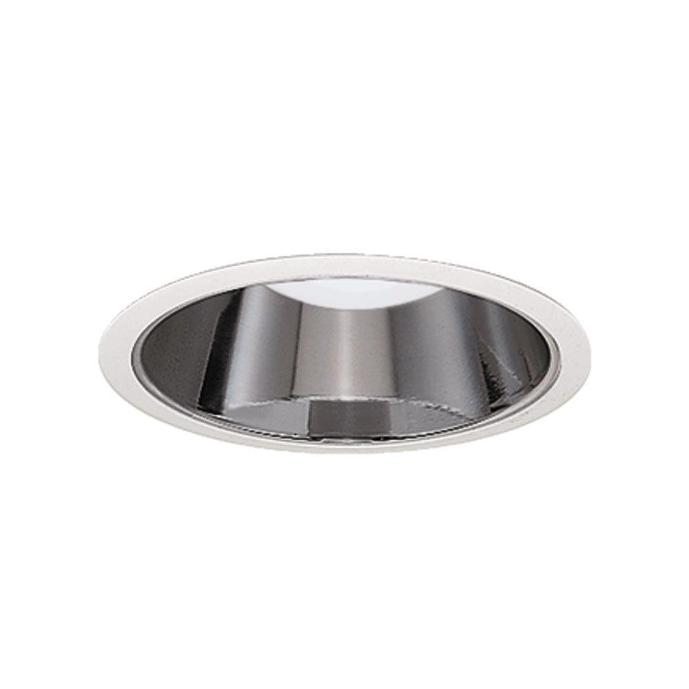 Halo 4 in. White Recessed Ceiling Light Specular Reflector Trim