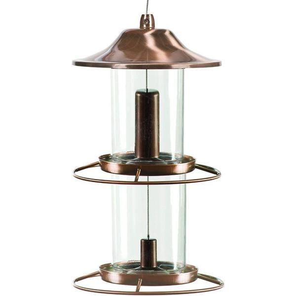 Copper Panorama Multiple Species Bird Feeder (2-Ports)
