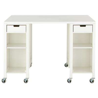 Craft Space Picket Fence Storage Table
