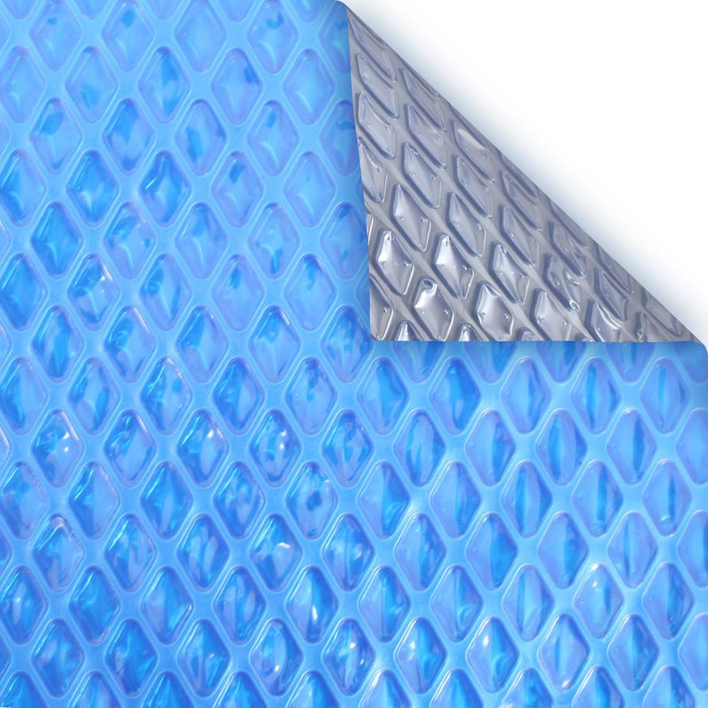 Premium 10-Year 4 ft. x 8 ft. Rectangular Blue/Silver Solar Pool Cover