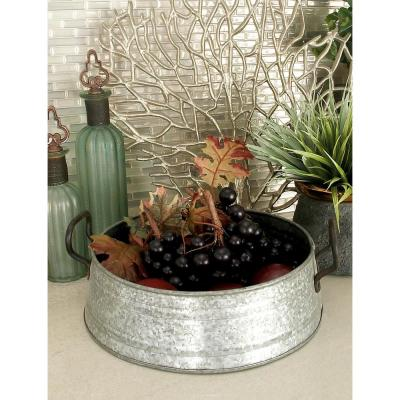 Farmhouse Rustic Gray Decorative Planter Trays (Set of 3)