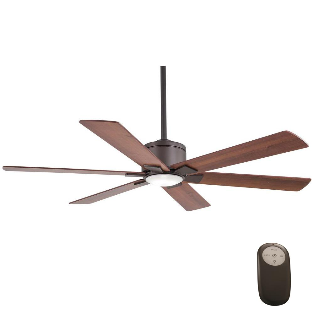 Renwick 54 in. Integrated LED Indoor Oil Rubbed Bronze Ceiling Fan