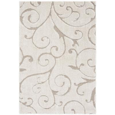 Florida Shag Cream/Beige 5 ft. x 8 ft. Area Rug