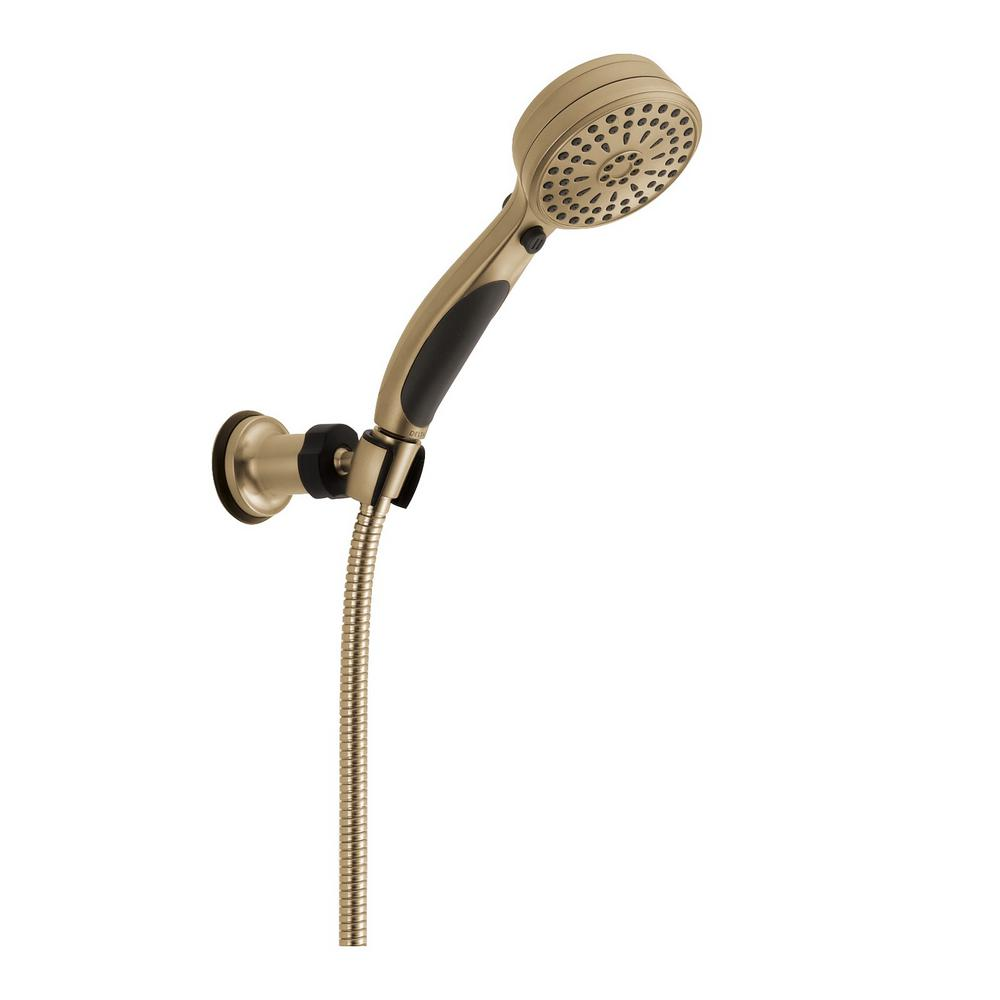 ActivTouch 9-Spray 3.6 in. Single Wall Mount Adjustable Handheld Shower Head in Champagne Bronze