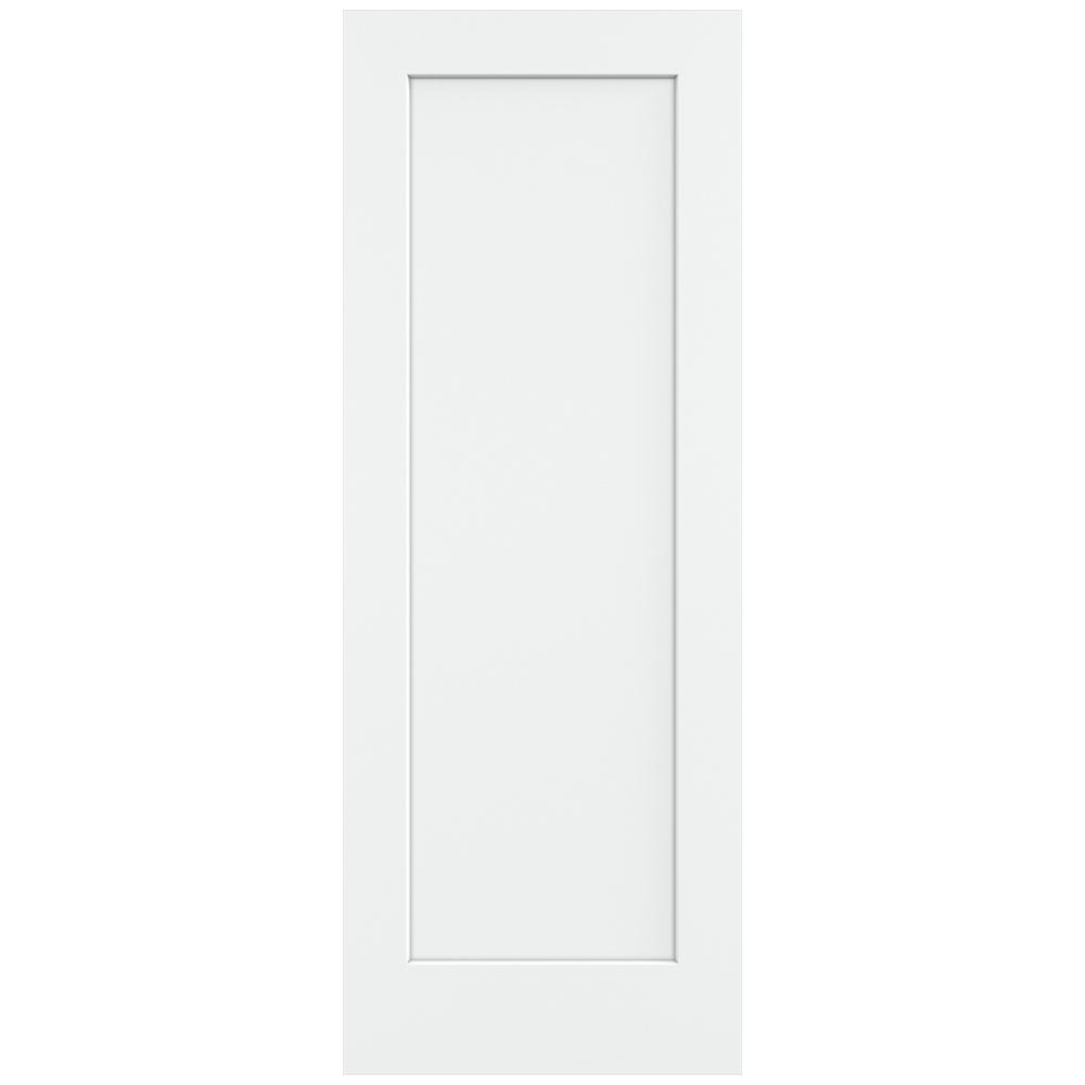 Jeld wen 32 in x 80 in madison white painted smooth for Solid core mdf interior doors