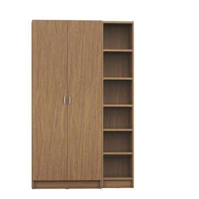 Greenwich 2-Piece Maple Cream Bookcase 12-Wide and Narrow Shelves with 2-Wide Doors