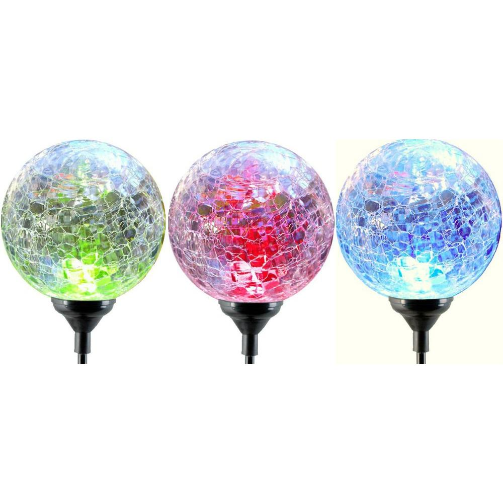 solar powered color changing led garden lights