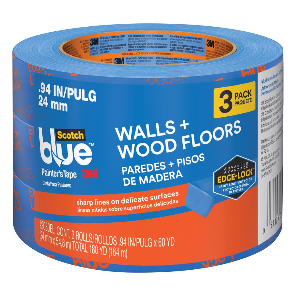 ScotchBlue 0.94 in. x 60 yds. Walls and Wood Floors Painter's