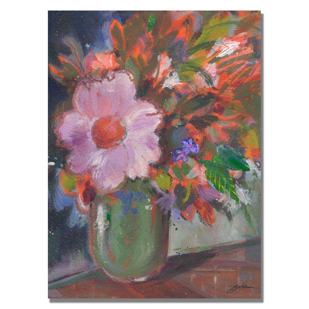 35 in. x 47 in. Starry Night Bouquet Canvas Art