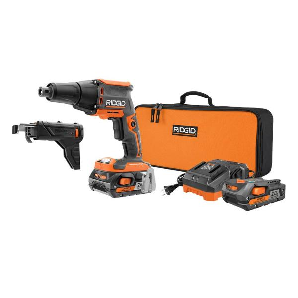 Ridgid 18-Volt 1/4 in. Brushless Drywall Screwdriver Kit with Collated Attachment (Used - Good Condition)