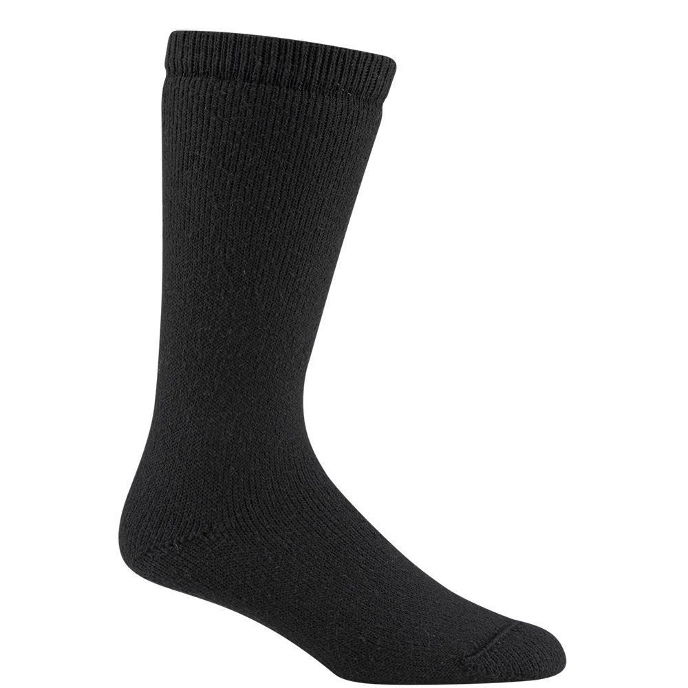 Below Heavyweight Cushioned Durable Super Warm Wool Black Outdoor Work Sock