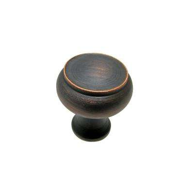 1-1/8 in. Brushed Oil Rubbed Bronze Cabinet Knob
