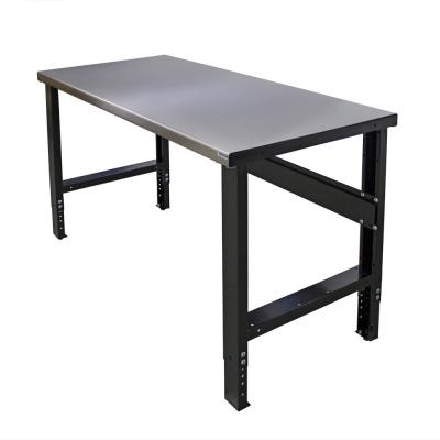 28 in. x 72 in. Heavy-Duty Adjustable Height Workbench with Stainless Steel Top