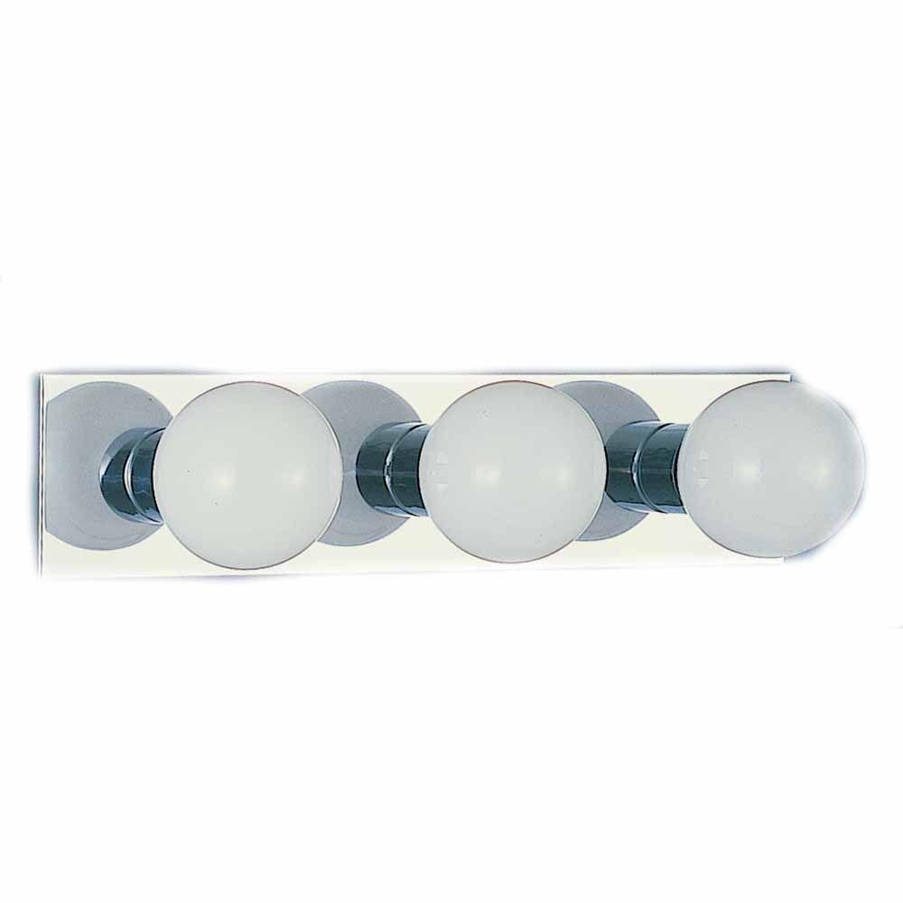 Filament Design Lenor 3-Light Chrome Incandescent Wall Bath Vanity Light