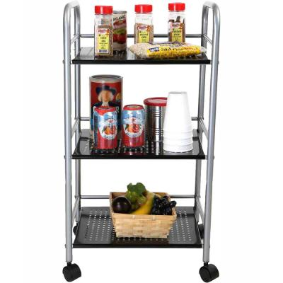 Silver Kitchen Cart with Wheels