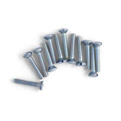 3/4 in. Wall Plate Screws - Chrome - (10-Pack)