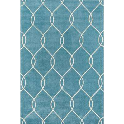 Bliss Teal 8 ft. x 10 ft. Indoor Area Rug