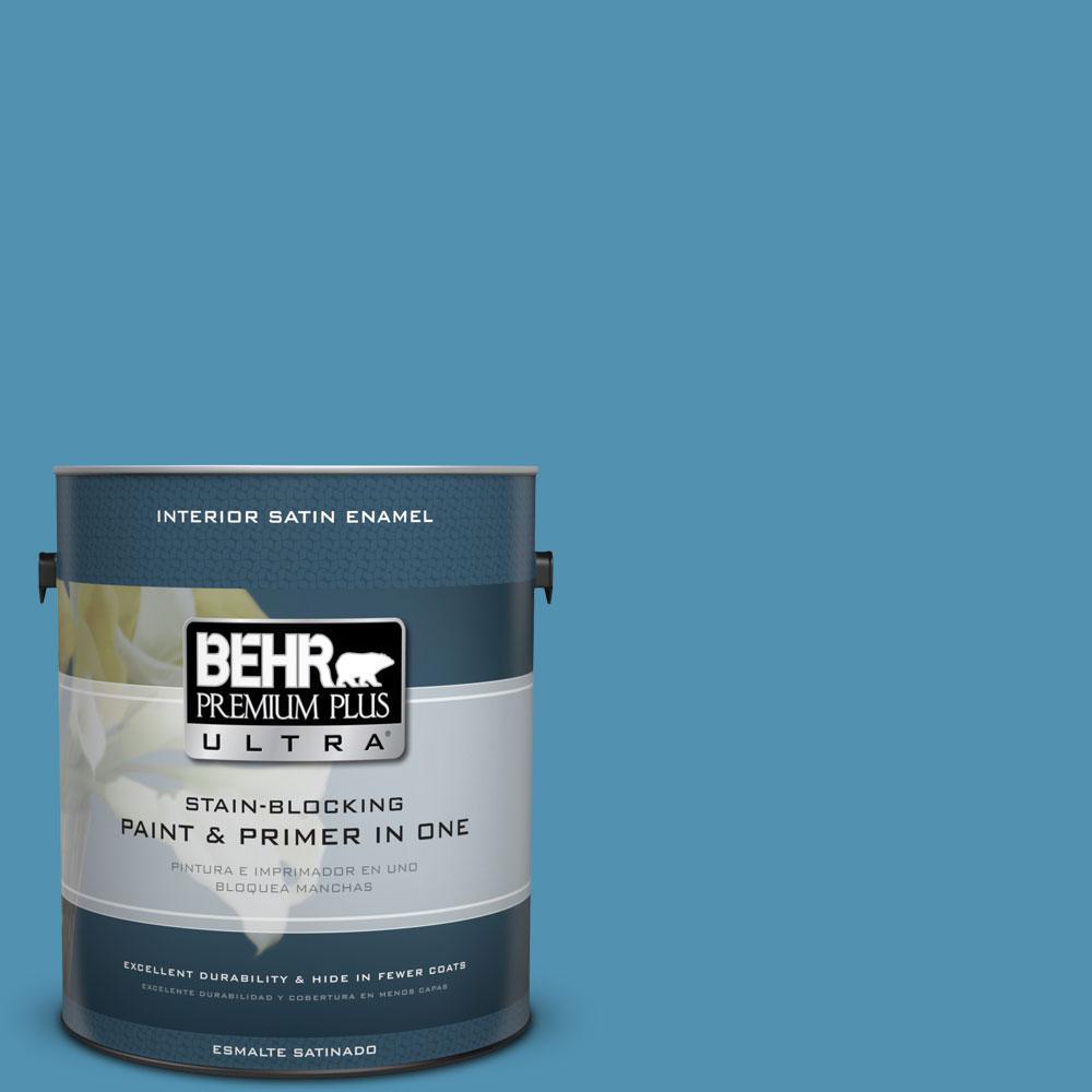 BEHR Premium Plus Ultra 1-gal. #M490-5 Jet Ski Satin Enamel Interior Paint