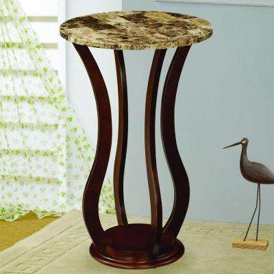 Bella Chocolate Finish Indoor Plant Stand