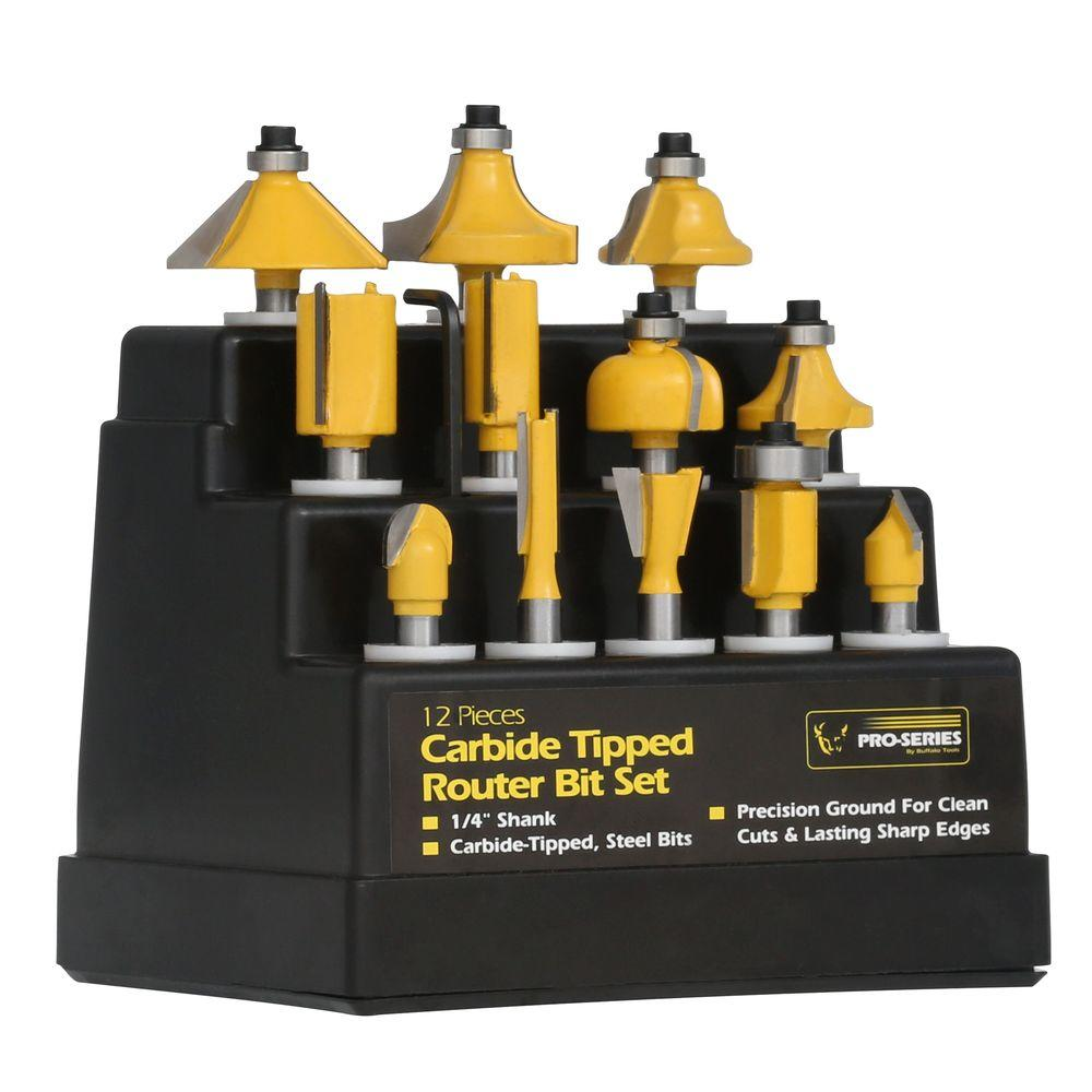 Router Bit Set (12-Piece)