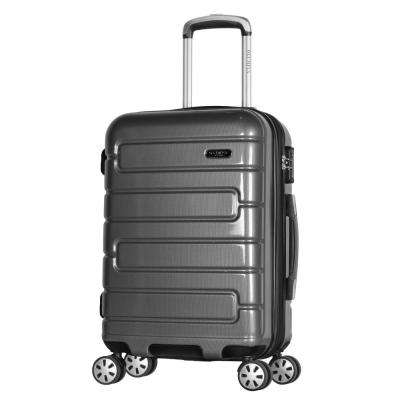 Nema 2-Piece Black PC Exp. Carry-On Hardcase Spinner Set with TSA Lock