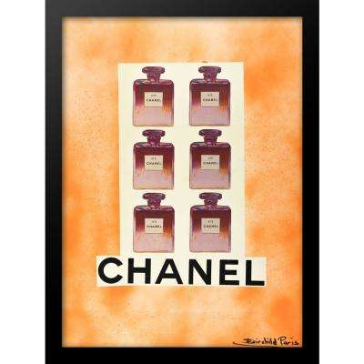 """24 in x 18 in"" ""Six Pack Orange"" Vintage Chanel Ad by Fairchild Paris Framed Printed Wall Art"