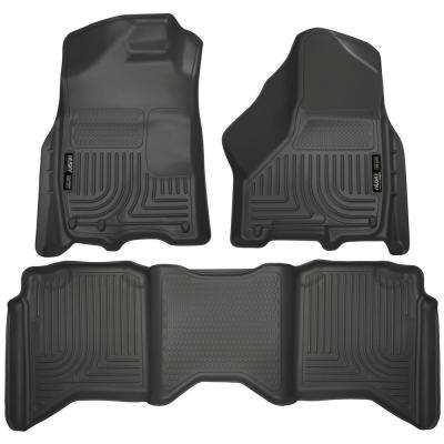 Front 2nd Seat Floor Liners Fits 09 18 Ram 1500 Crew Cab