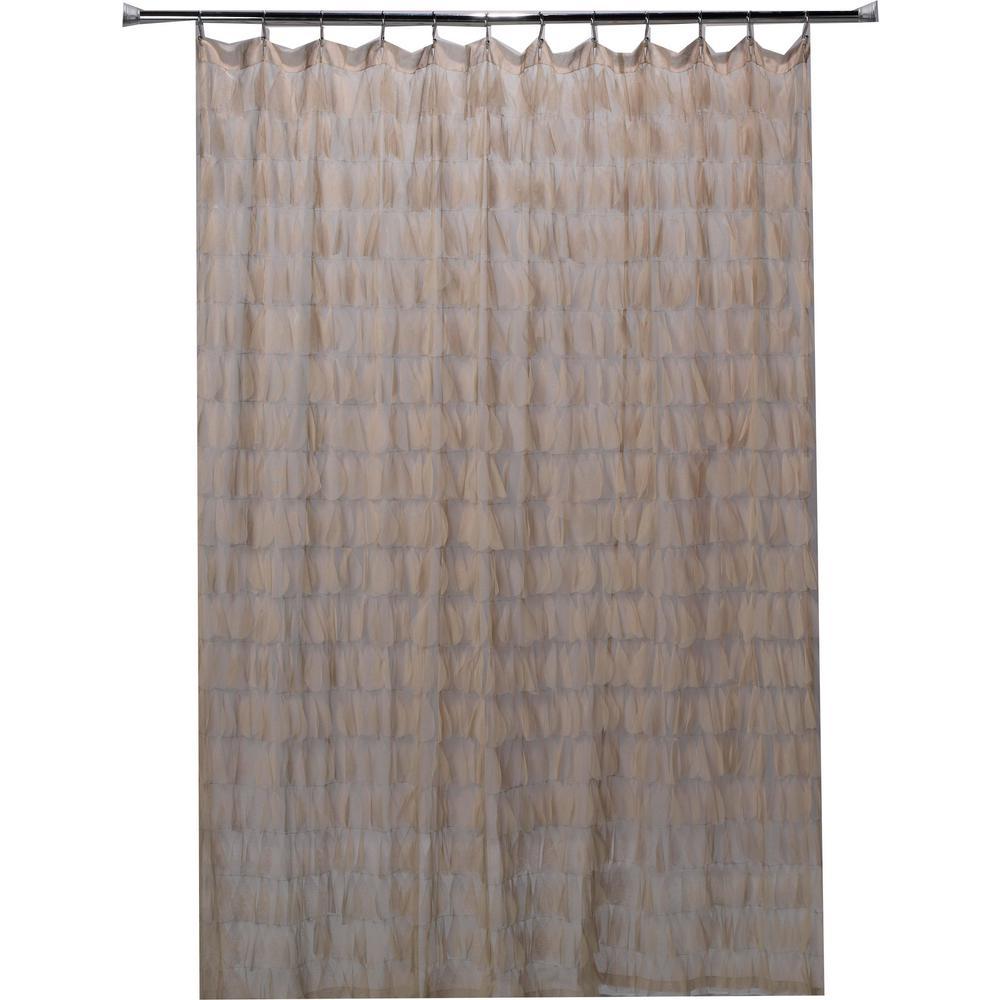 Sable Cascading Tulle Petal Shower Curtain