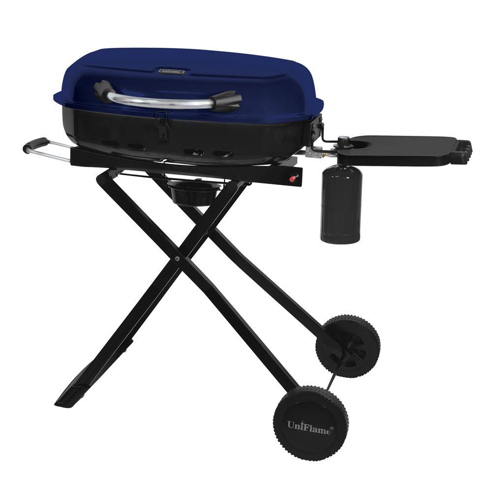 uniflame 1 burner portable propane gas grill gtc1205b the home depot. Black Bedroom Furniture Sets. Home Design Ideas