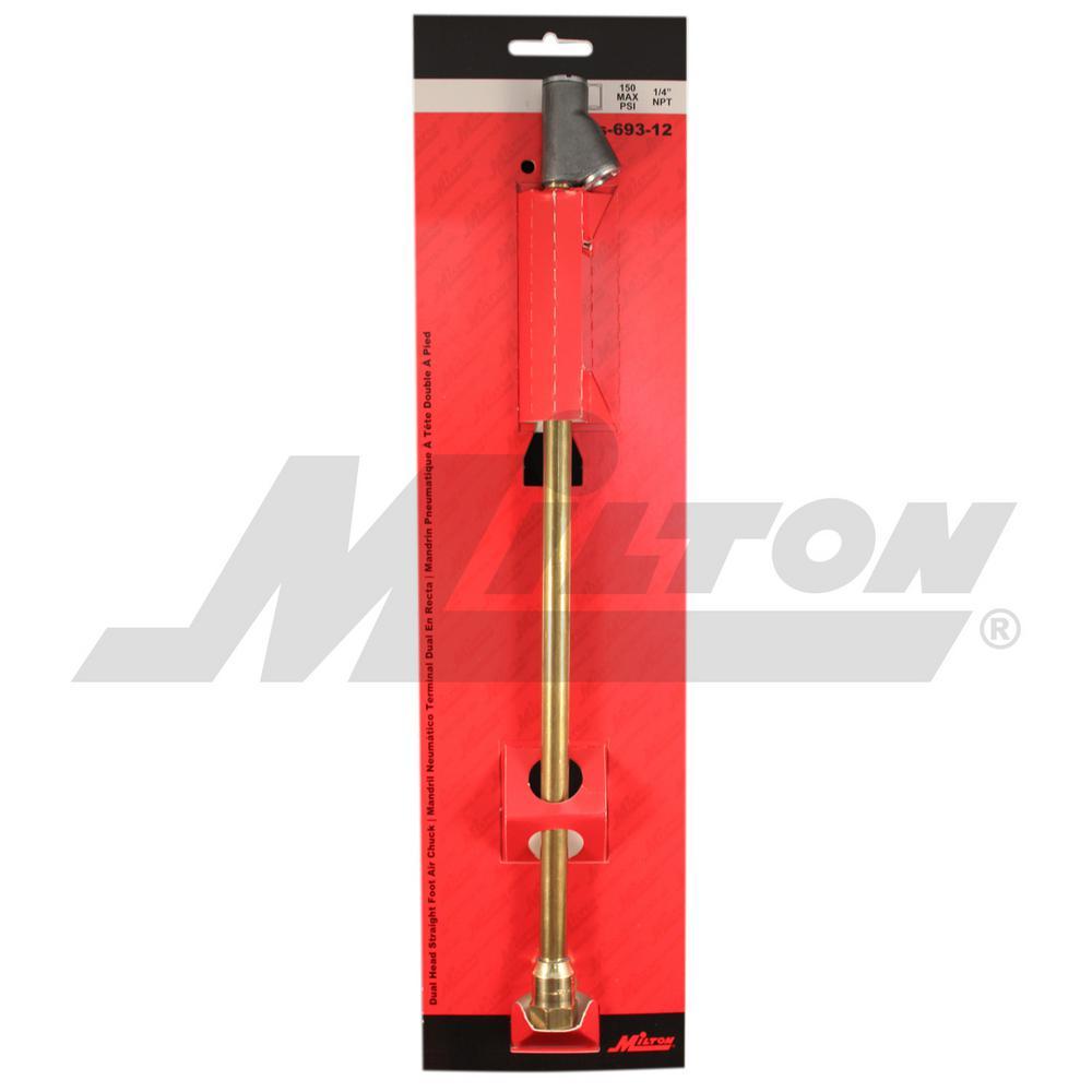 Milton S-693-12 1//4 FNPT Extended Reach Dual Head Air Chuck