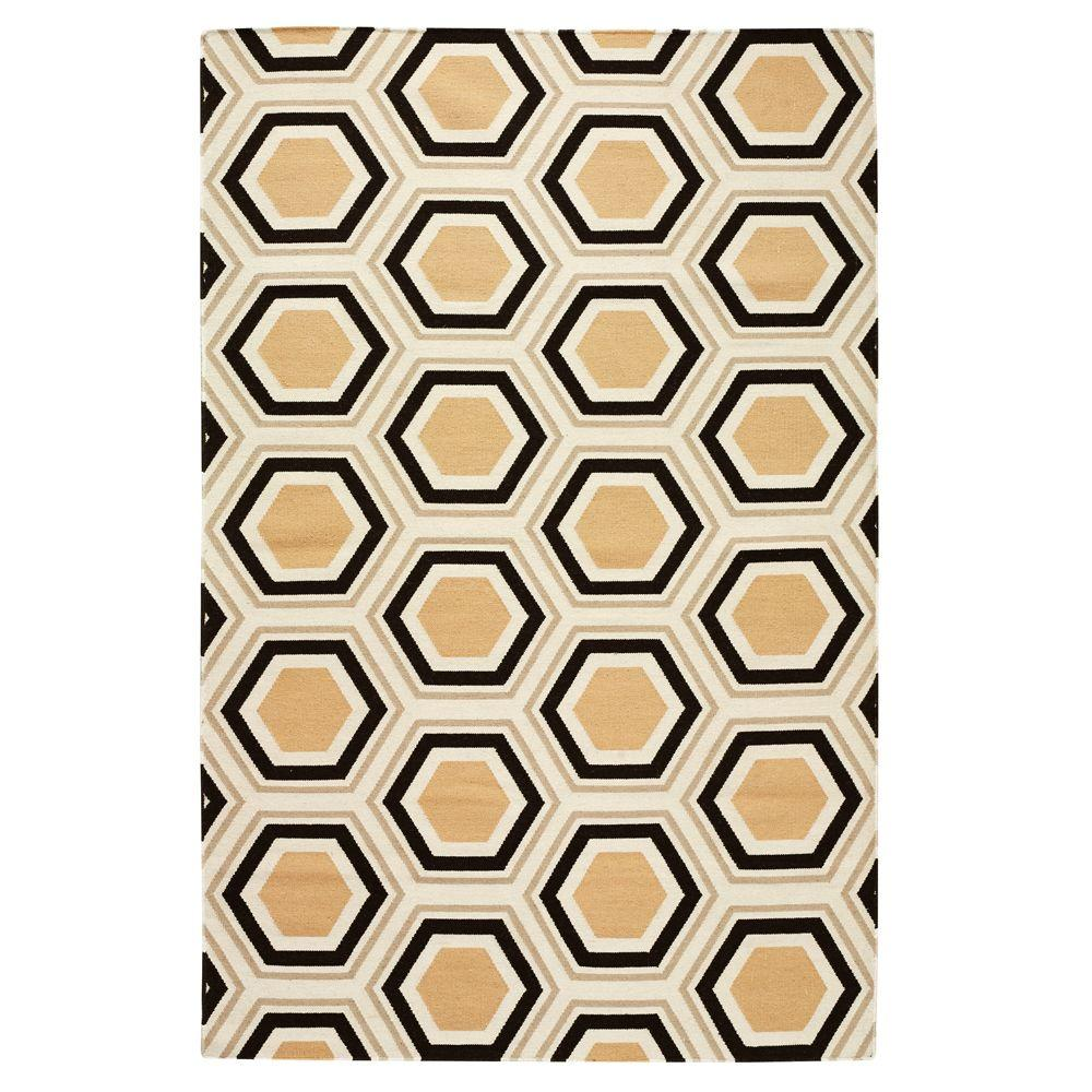 Home Decorators Collection Castleberry Brown and Gold 2 ft. x 3 ft. Accent Rug