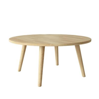 Ballast Natural Round Wood Cocktail Table