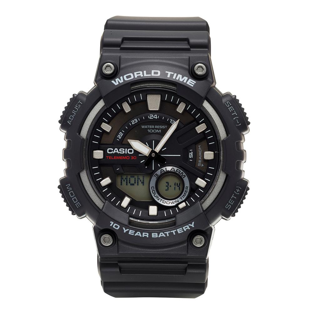 Men's Black Analog Watch