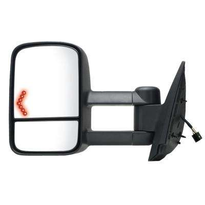 Towing Mirror for 07-14 Escalade/Silverado/Sierra/Tahoe/Yukon 07-13 Avalanche Black Heated Power Turn Signal LH