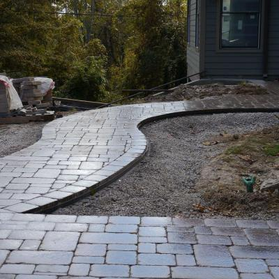 48 ft. Paver Edging Project Kit in Black