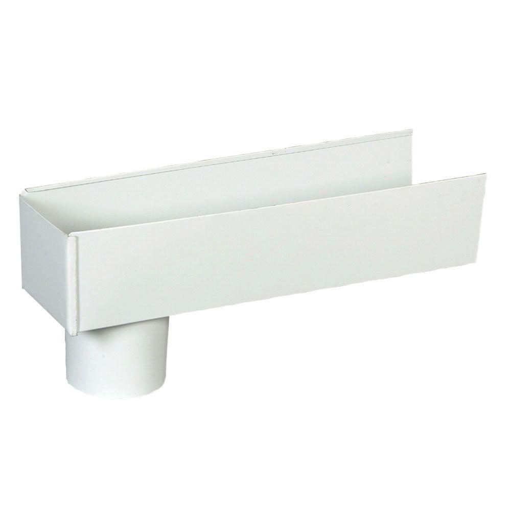 4 in. x 16 in. White Aluminum Eave Box