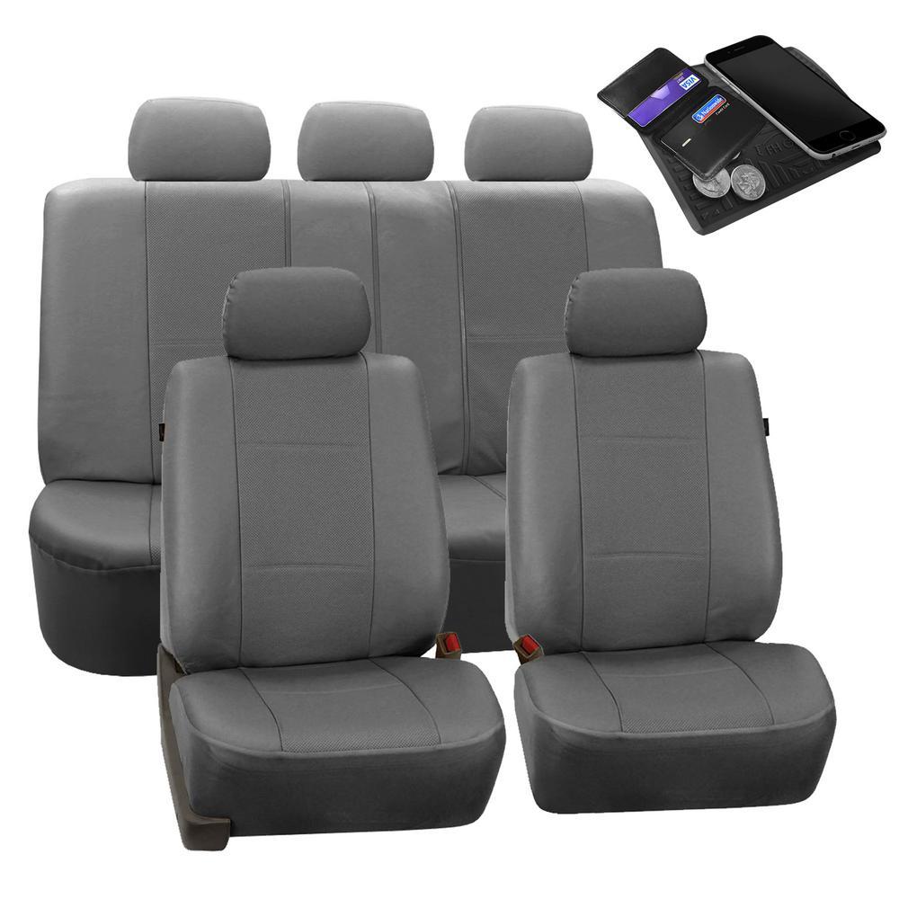 Car seat covers Hyundai Tucson black full set leatherette red