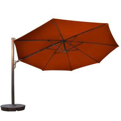 Victoria 13 ft. Octagonal Cantilever Patio Umbrella in Terra Cotta Sunbrella Acrylic