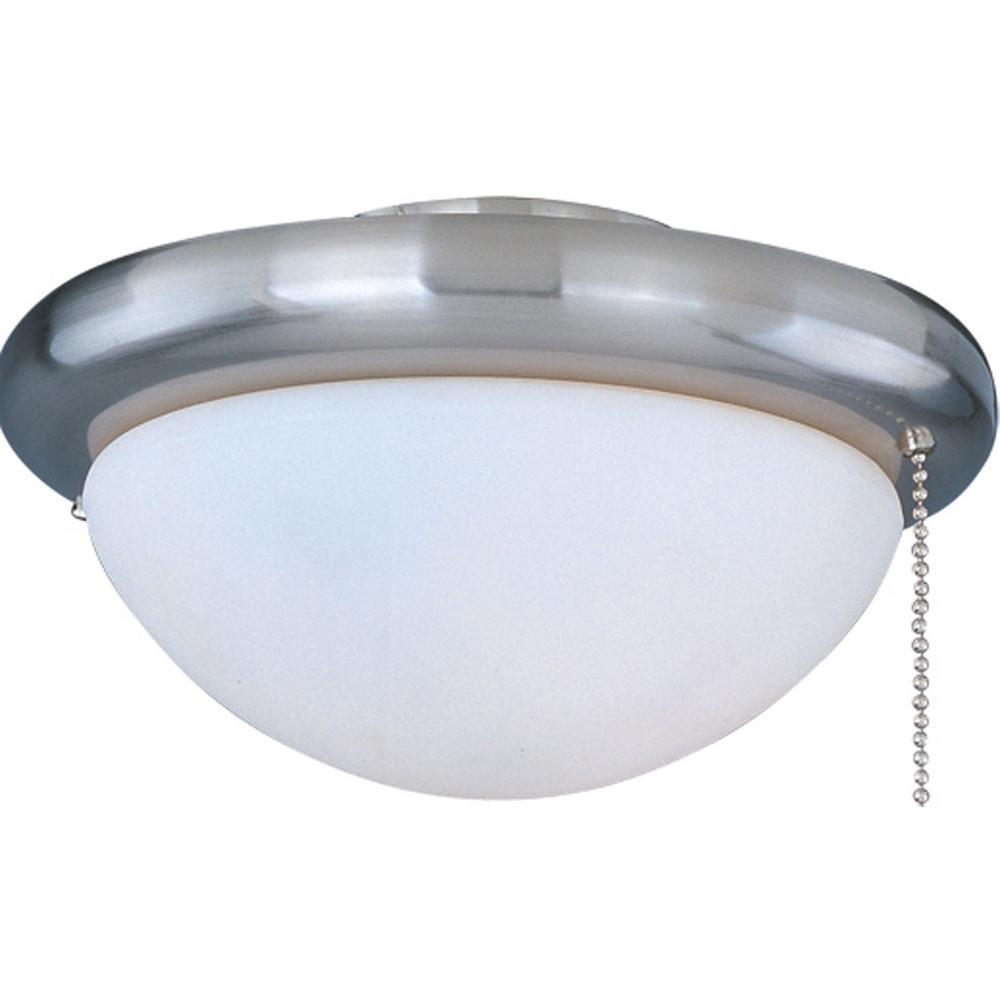 Basic-Max 1-Light Satin Nickel Ceiling Fan Globes Light Kit