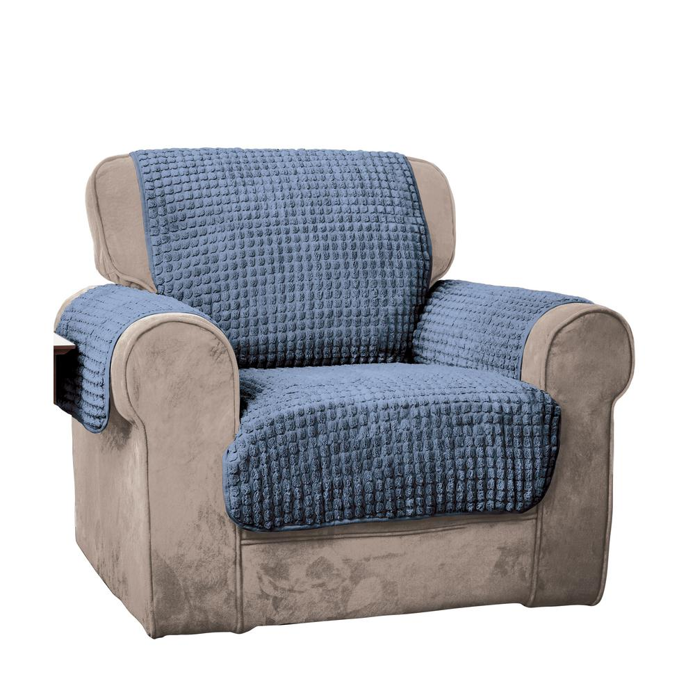 Home Solutions Furniture: Innovative Textile Solutions Blue Puff Chair Furniture