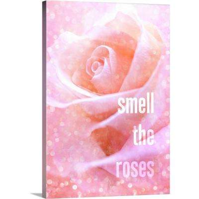 """Smell the Roses"" by Circle Art Group Canvas Wall Art"