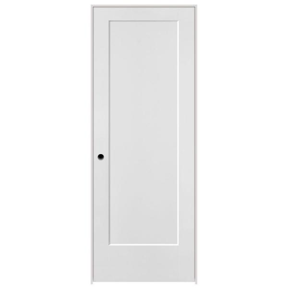 30 in. x 80 in. Lincoln Park 1-Panel Left-Handed Hollow-Core Primed Composite Single Prehung Interior Door