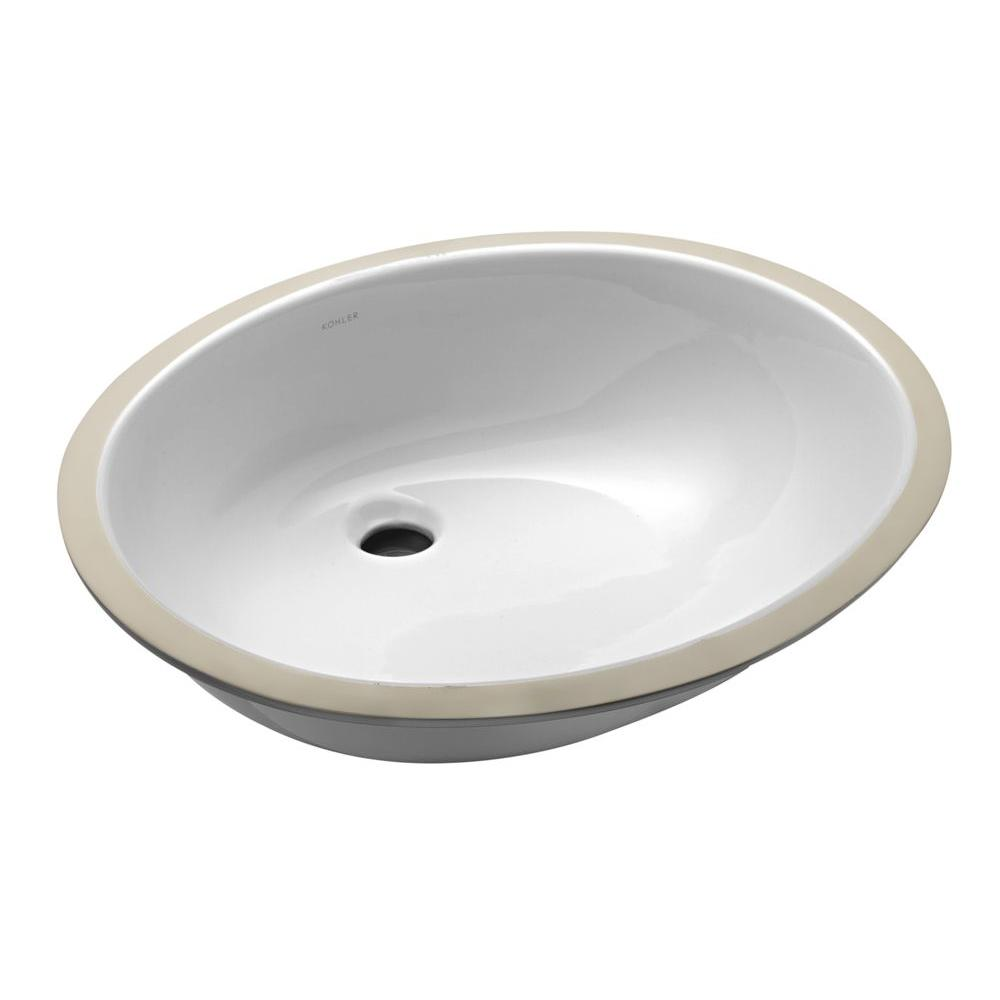 Kohler Caxton Vitreous China Undermount Bathroom Sink With Glazed