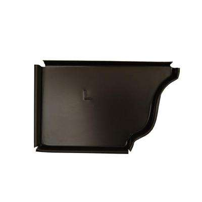 6 in. Dark Bronze Aluminum Left End Cap